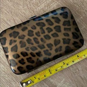 Leopard print card holder